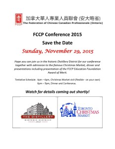 FCCP Conference 2015 -save the date flyer