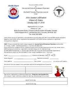 JCCP 2016 Celebration dinner  general  invite