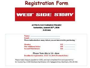 Registration FormCCMS
